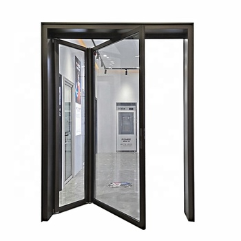 Modern Design Narrow Frame Aluminum Bifold Door For Villa