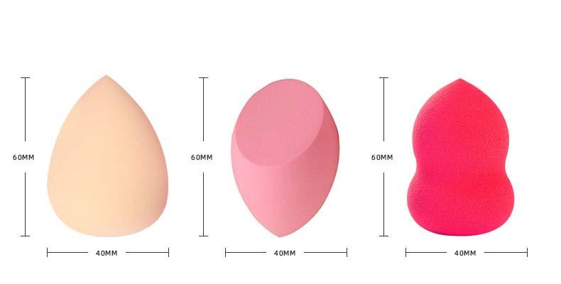 Groothandel cosmetica spons roze afschuining facial natuurlijke wassen zachte latex gratis make-up spons