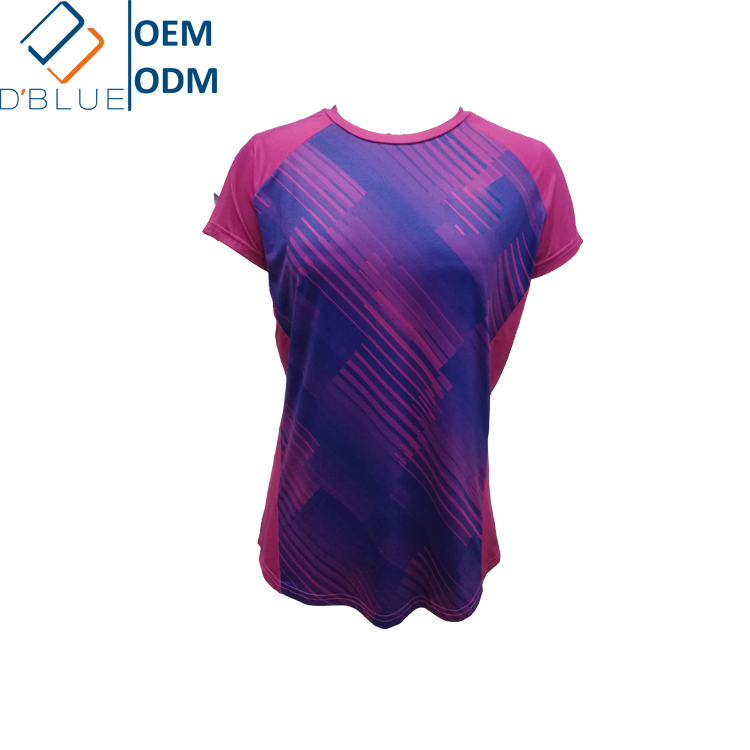 OEM Blank Dry-Fit T Shirts Polyester Spandex Fabric With Individual <strong>Design</strong>