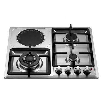 Factory price portable table top tempered glass gas stove 4 burners gas stove