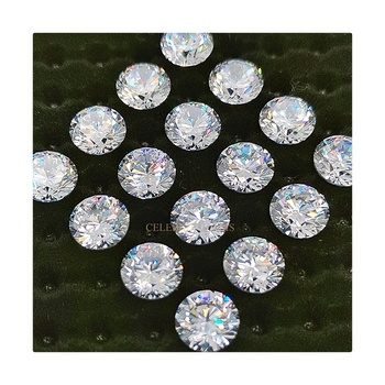 5A Grade Wholesale Machine Cut CZ Stone Loose Round Shape White Cubic Zirconia