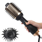 CE,RoHS,FC Approved Negative Ion One Step Hair Dryer Brush Gold Volumizer Hair Styler Hair Straightener Brush