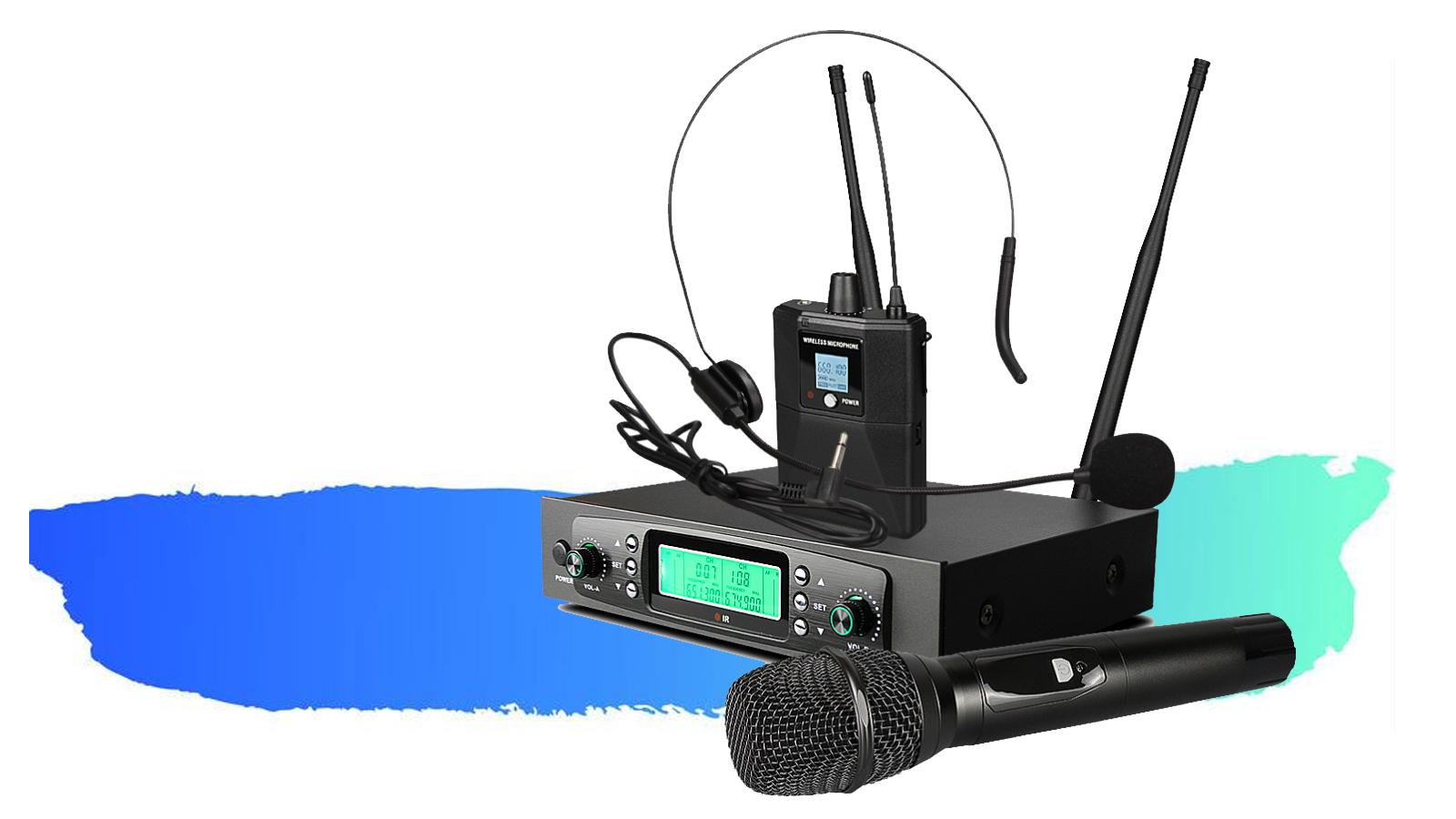 2020 Jarak Jauh Sensitif Tinggi Kerah UHF Radio Mikrofon Nirkabel