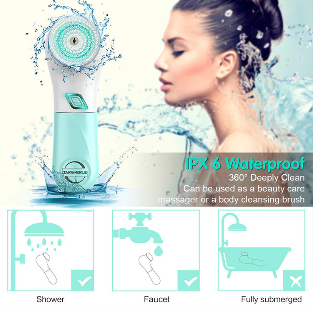 Private Label Facial Cleanser Beauty Whitening Facial Cleaning Brush,facial cleanser brush