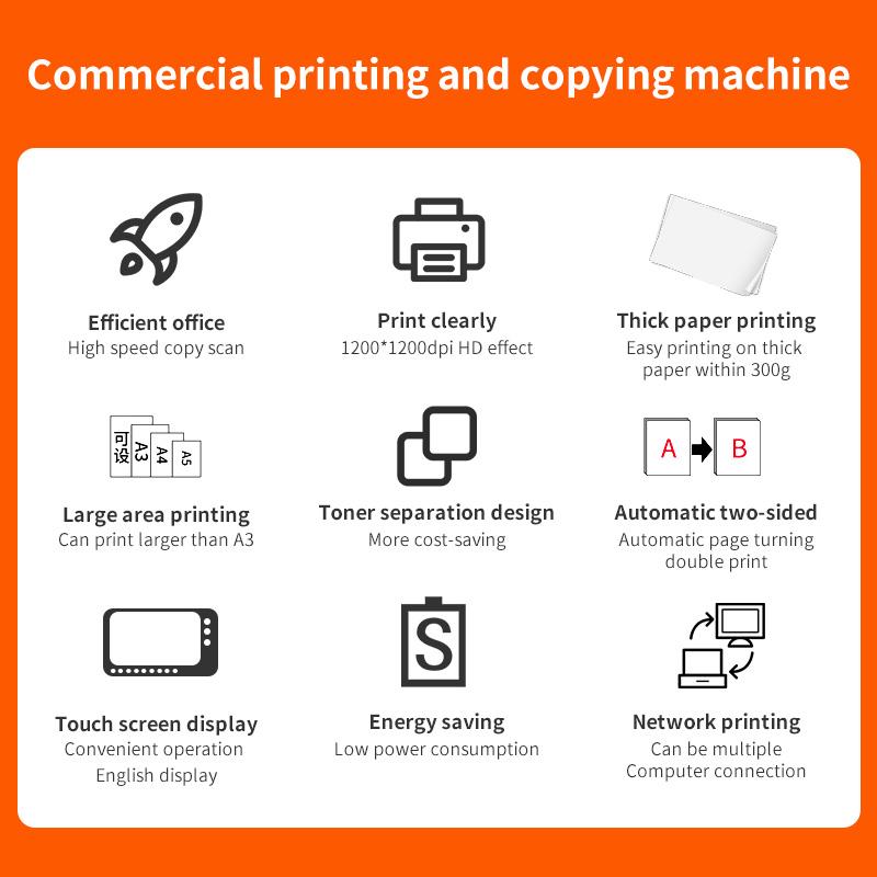 A3 Ricoh Printer CMYK Colored/Monochrome All-in-one Printer for Ricoh Aficio MP 3003 b2b Copier