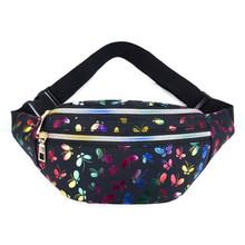 Голографическая поясная сумка для девочек-подростков, Женская поясная сумка с бабочками, Женская поясная сумка с геометрическим рисунком, ...(Китай)