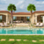 Swimming Pool Landscape Indoor Artificial Fan Faux Palm Trees, Canary Date Palm Tree