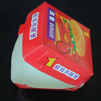 Factory direct price Recycle foldable hamburger food packaging miniburger box