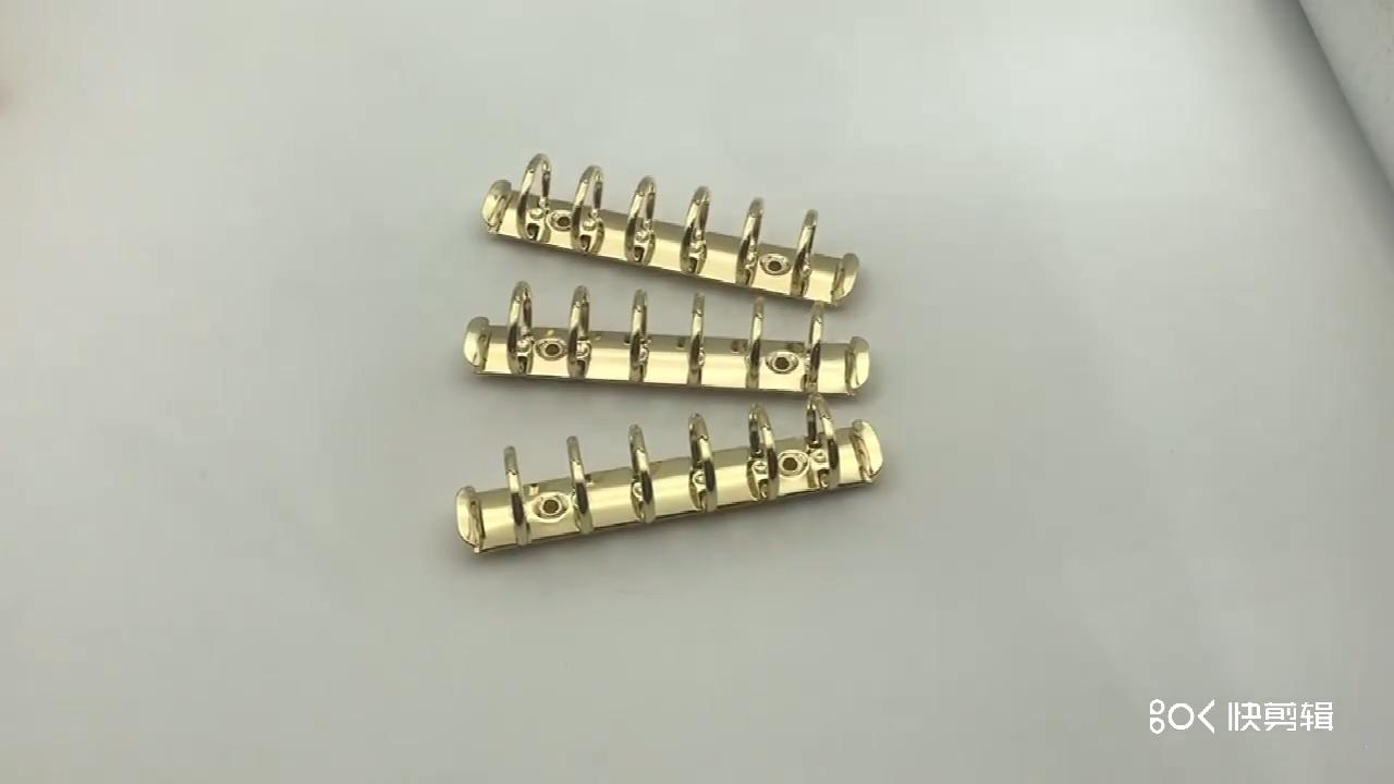סיטונאי תעשייתי זהב מתכת A7 טבעת מנגנון נייד אביזרי מיני 6 טבעת קלסר