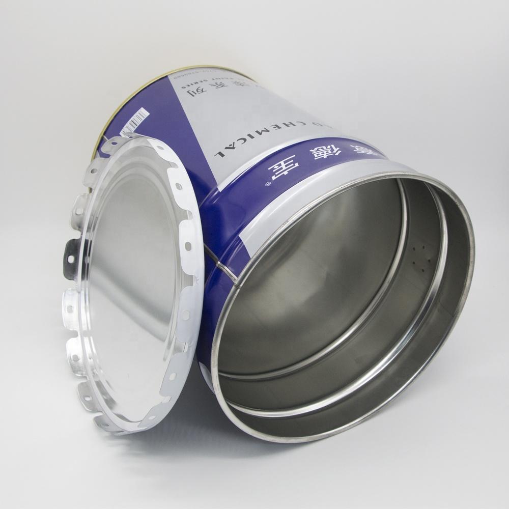 Free sample 1L/2L/3L/5L/8L/10/18L/20L tinplate metal tin paint pail bucket with shape lid