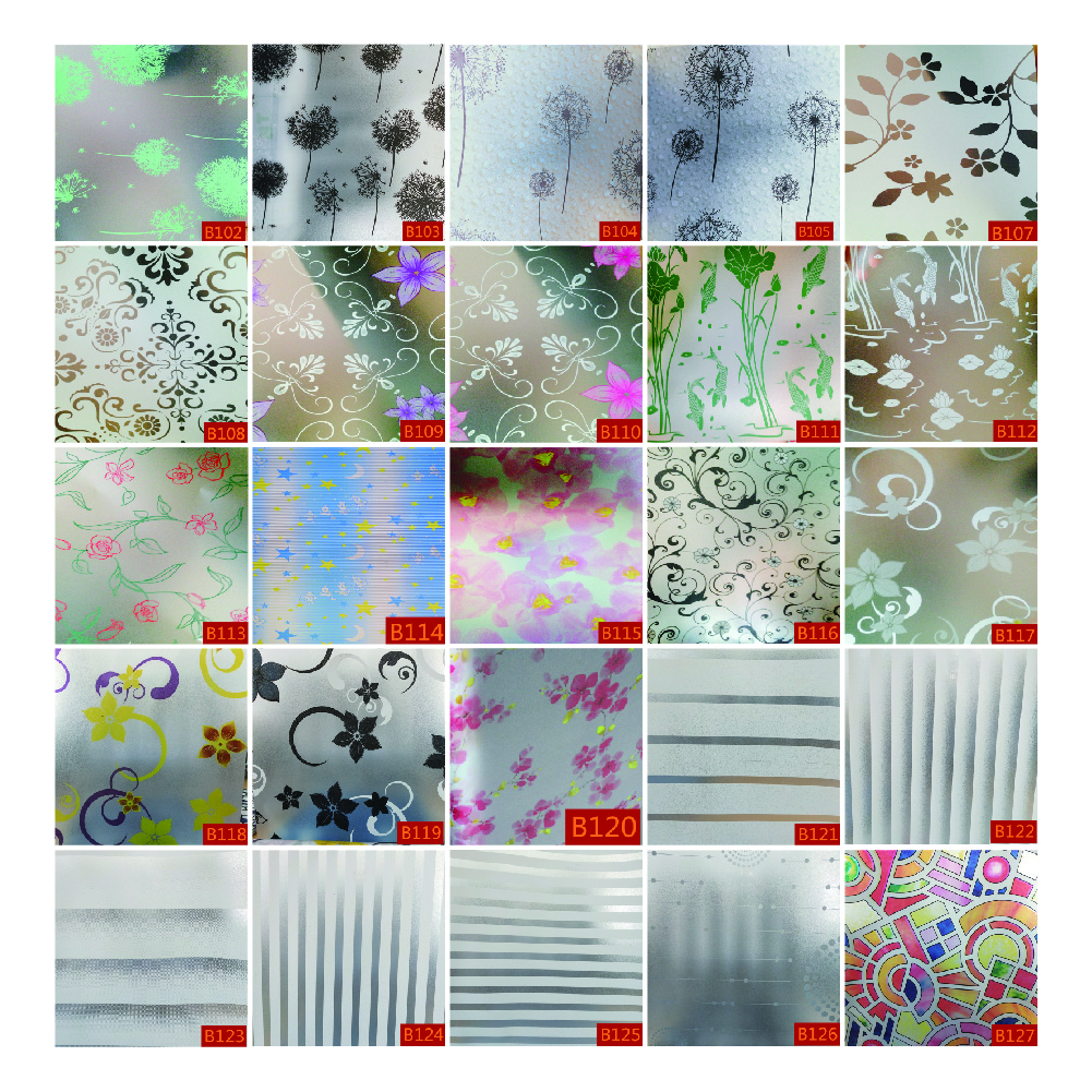 Anolly de PVC Auto adhesivo decorativo Oficina esmerilado película de la ventana