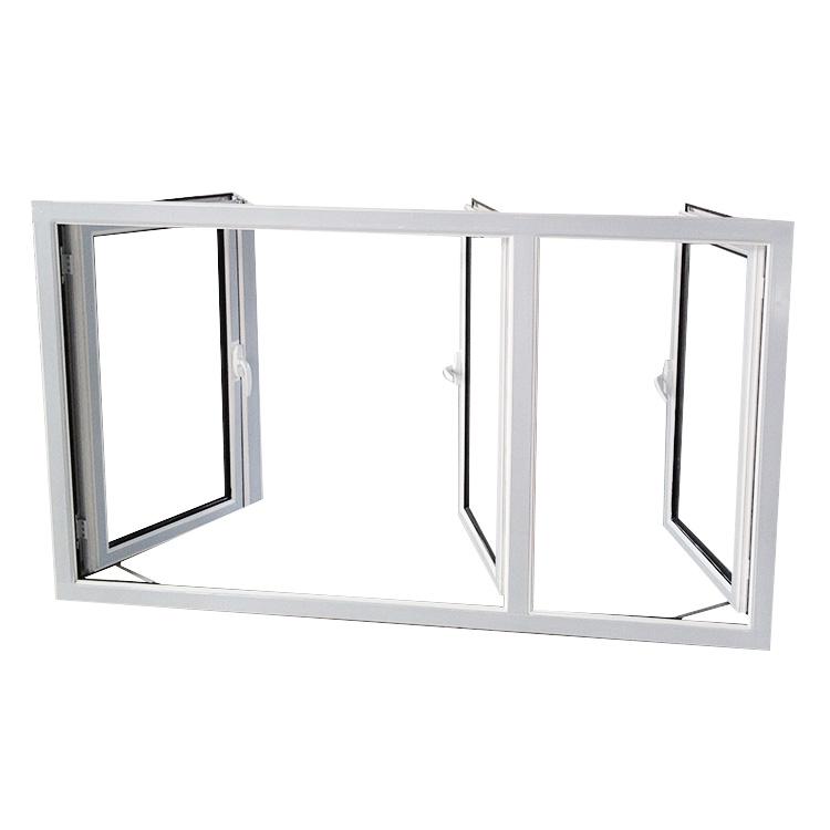 AS1288 AS2047 standard Household bedroom Inward Opening double glazed aluminum Frame casement window drawing