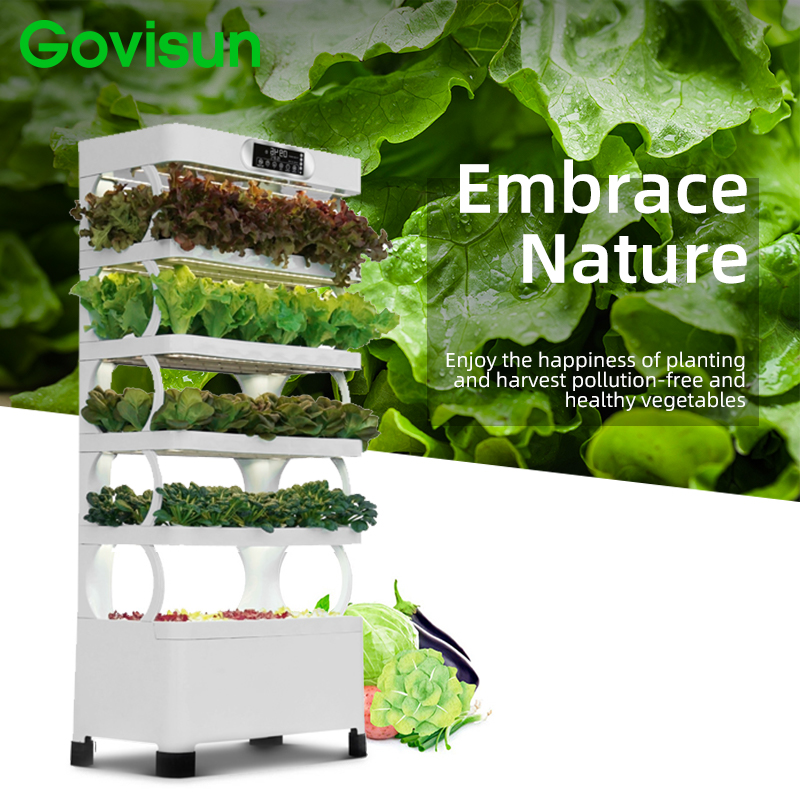 Govisun new arrival 220w indoor smart garden hydroponic intelligent vertical farming home hydroponic growing systems