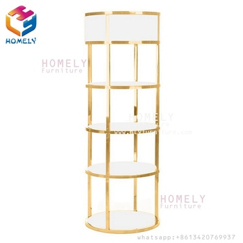 Good Quality and Fashionable  Glass and Stainless Steel Shelf