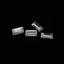 2x4mm 바게뜨 컷 <span class=keywords><strong>moissanite</strong></span> 느슨한 보석 DEF 컬러 14K 반지, <span class=keywords><strong>moissanite</strong></span> 밴드