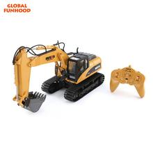 Global 2019 Funhood 1550 1:14 Remote Control Excavator <span class=keywords><strong>Mainan</strong></span> Anak 15 Channel Digger RC <span class=keywords><strong>Mainan</strong></span> Konstruksi