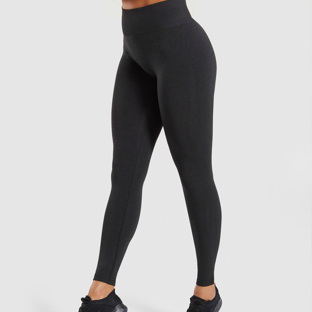Wholesale Women Sports Yoga High Waist Seamless Nylon Spandex Leggings