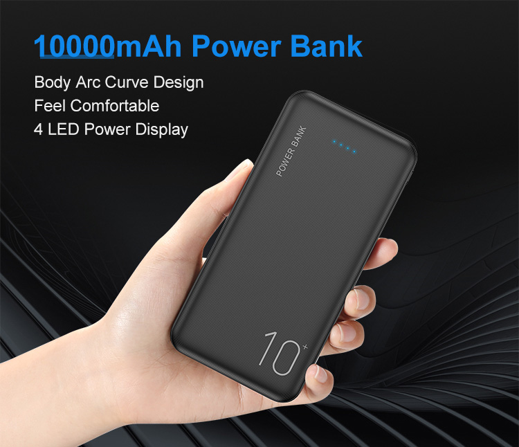 High Capacity Power External Battery Portable Charger 10000mAh Mobile Powerbank for Phone