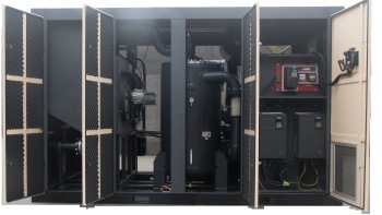 XLPM75A-IID 75hp 55kw chienese two stage air screw compressor factory price made in China