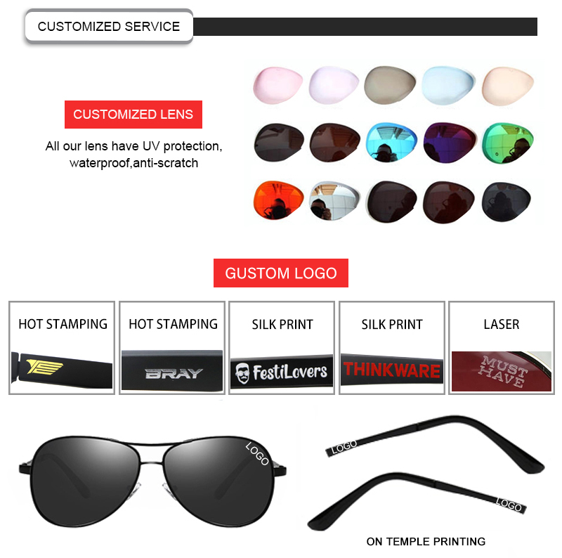 custom black flys sunglasses fashion design for driving-23