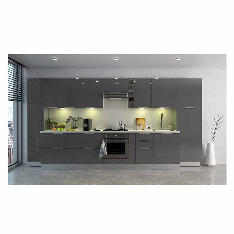 hidden kitchen cabinet drawer handle gray shake glossy full fitted fireproof exclusive european kitchen cabinet sets