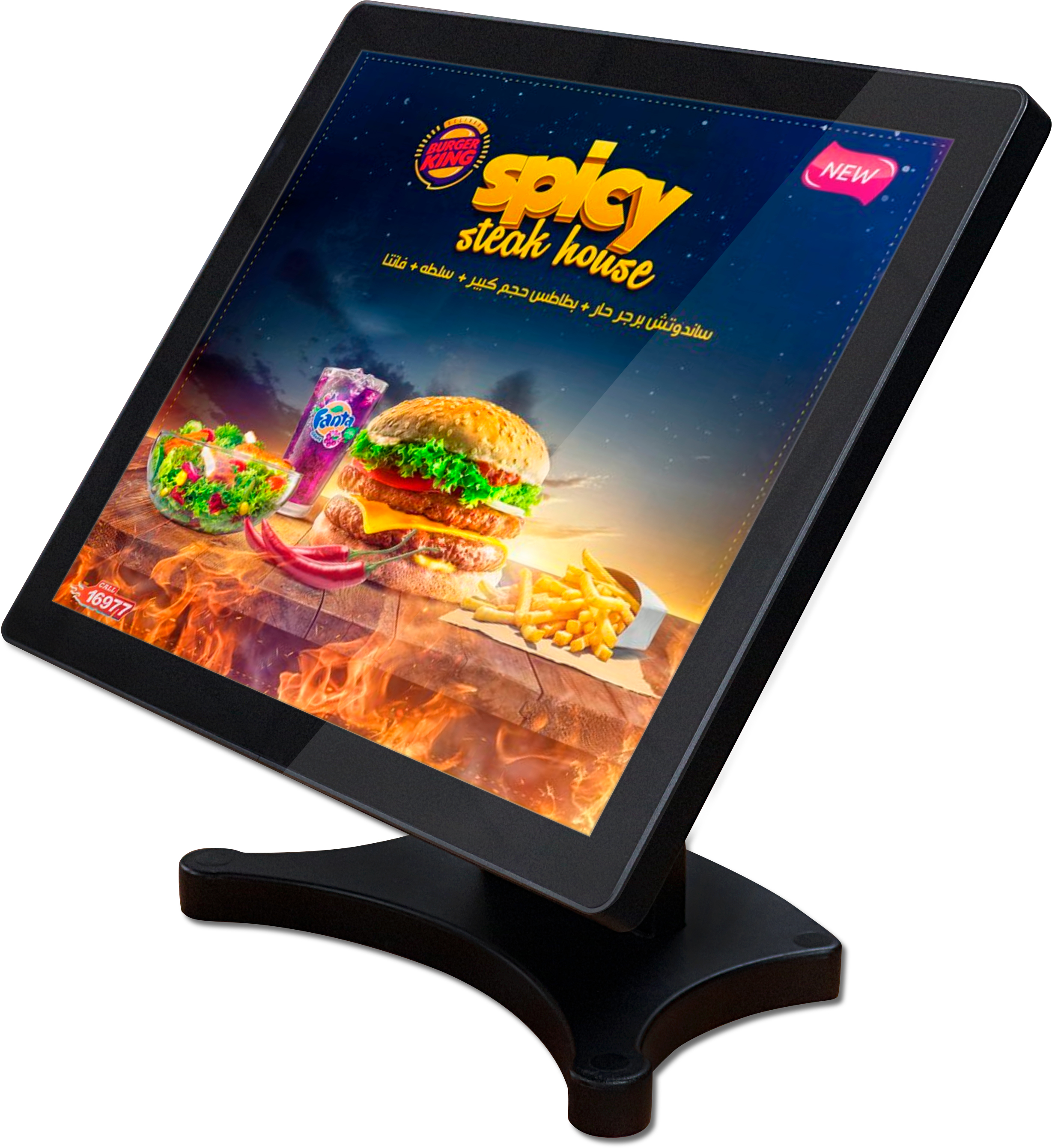 15 inch digital signagure picture IPS capacitive touch screen monitor