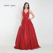 Женское вечернее платье Lemon joyce, длинное, с треугольным вырезом и открытой спинкой, расшитое блестками, а-силуэта, 2020(China)