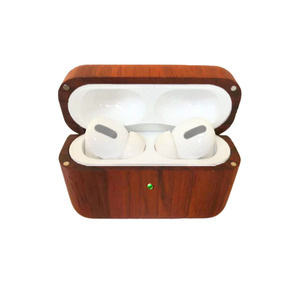 Eco-friendly Natural Bamboo Wooden Case For Airpods pro, For Apple Airpods pro 3 Case Cover