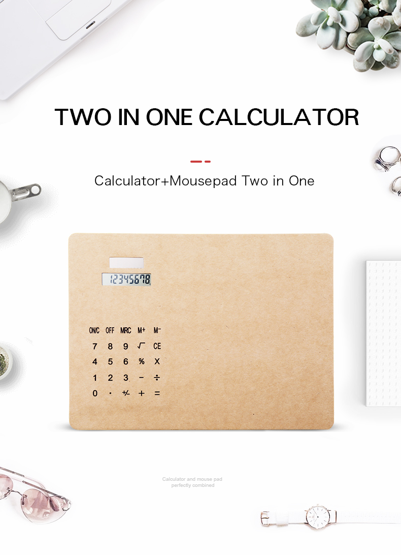 Stationery Amazon new style Custom Cheap Multifunction Slim Mouse Pad Calculator with Calculator