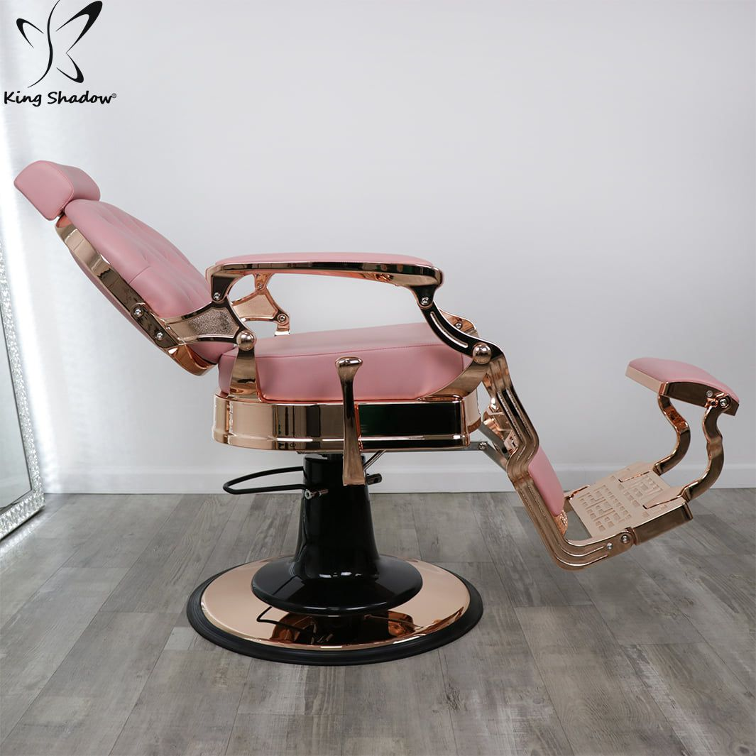 Kingshadow pink hydraulic chairs barber shop waiting chairs salon furniture