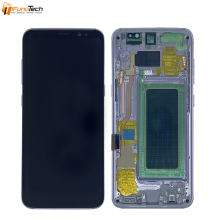 SUPER AMOLED LCD Para Samsung Galaxy S8 LCD G950 G950F G950A G950 Display Touch Screen Digitador Assembléia com frame