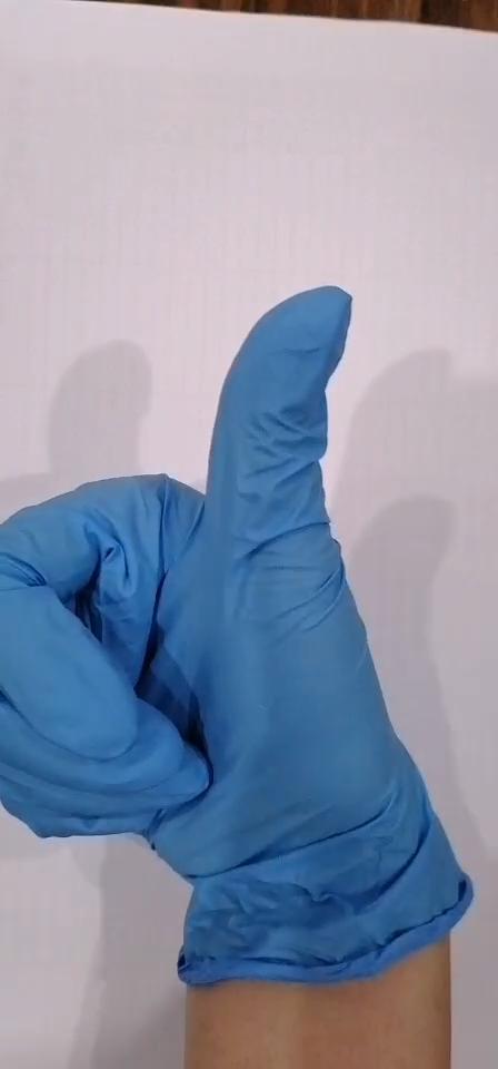 使い捨て安全医療ニトリル検査用手袋