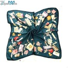 ZP fashion lady silky square scarf 70 how to wear a neck scarf silk