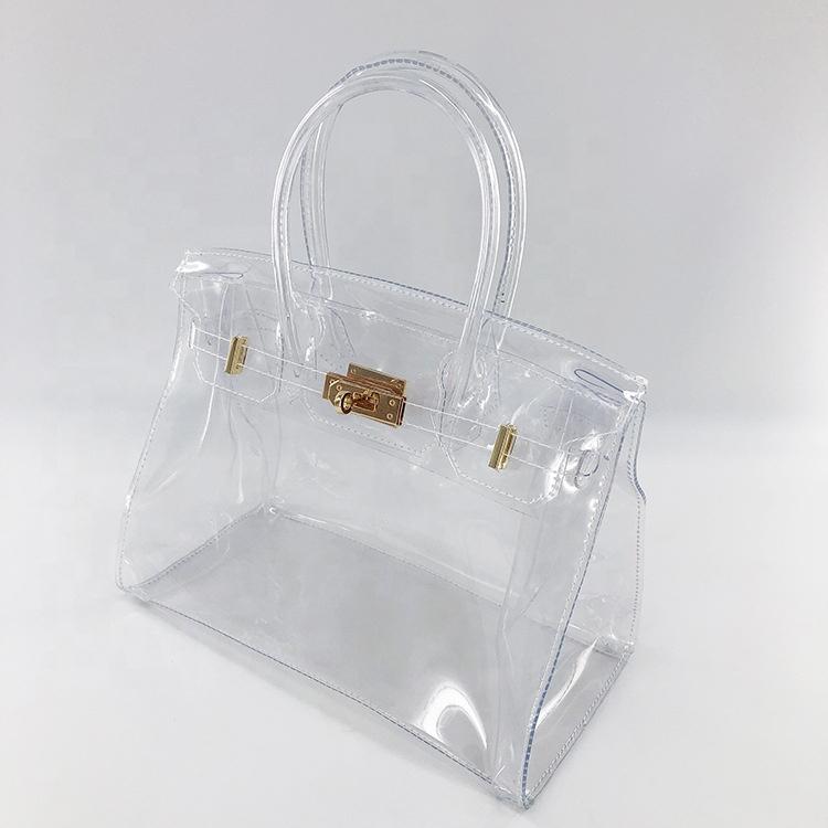 Transparente Bolso de mano, bolsa grande, transparente bolsa