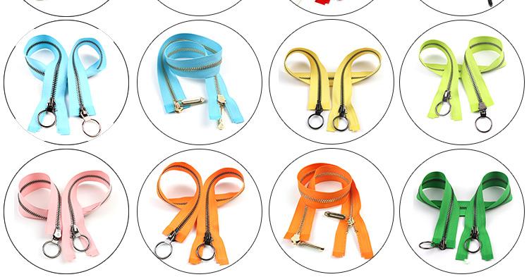 Good Price Zipper Factory Direct Supply Custom Fancy Metal Handbag Zippers