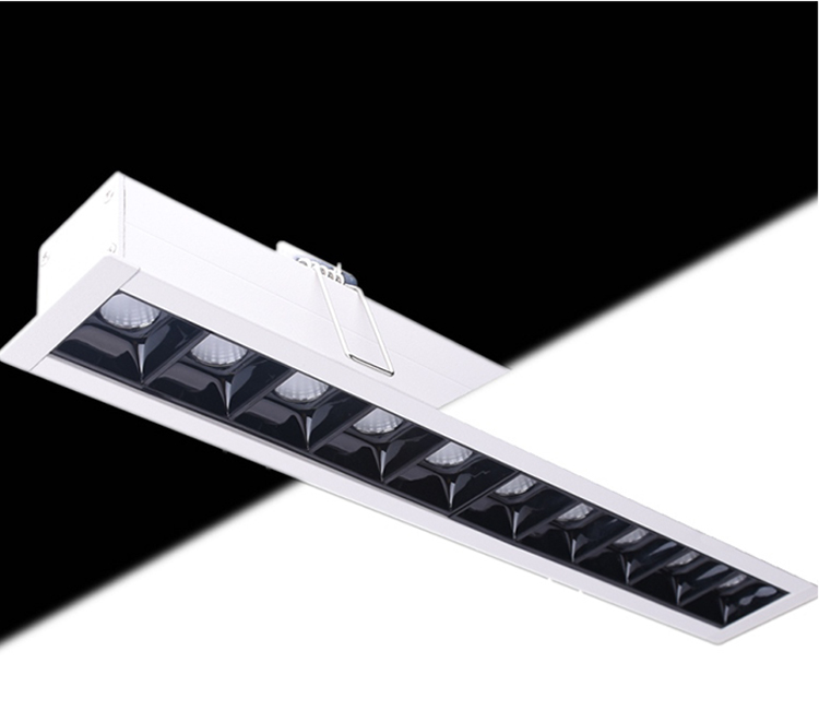 Yeni stil Alüminyum Alaşım Gömme LED lineer down işık Otel için