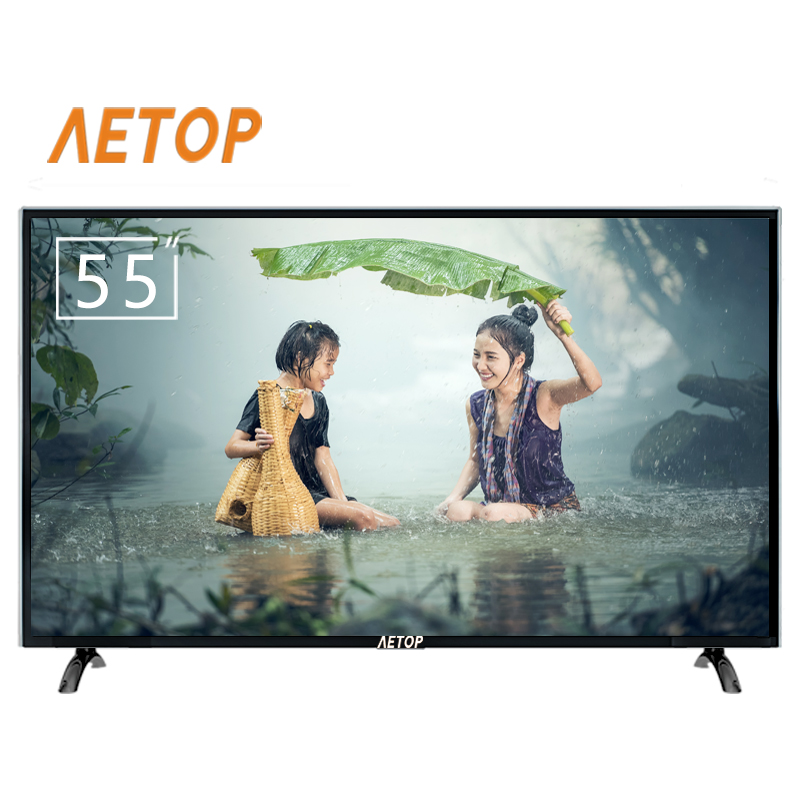 RTS-55 inch hd led tv explosion-proof flat screen 4k UHD android tv smart television with remote control
