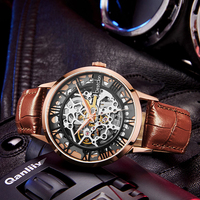 Fashion Men's Casual Stainless Steel Waterproof luxury Automatic Mechanical Watch
