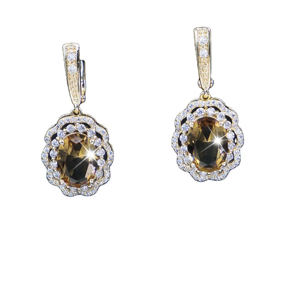 Diaspore Sterling Silver flower Earrings For Women Color Changes Earrings Multi Colored Stones Earrings