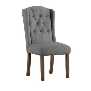 16 years factory High Quality Rubber Wood Frame cheap price high back comfort dining chair