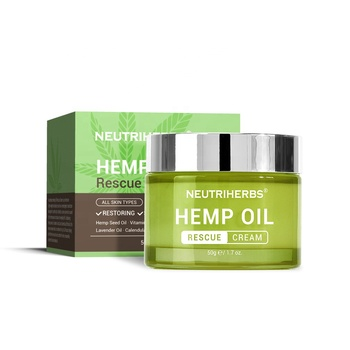 Private Label Skin Care Anti Acne Hydrating Moisturizing Repairing CBD Hemp Face Cream