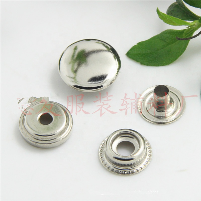 Custom Metal Press Snap Button for Clothing Leather Handbag