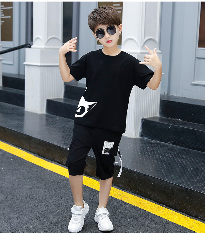 2020 new Tracksuit For Teen Boys Clothing Sets 2020 Summer Toddler Boys Clothes Costume Outfit Suit Children Clothing  4-12 Year