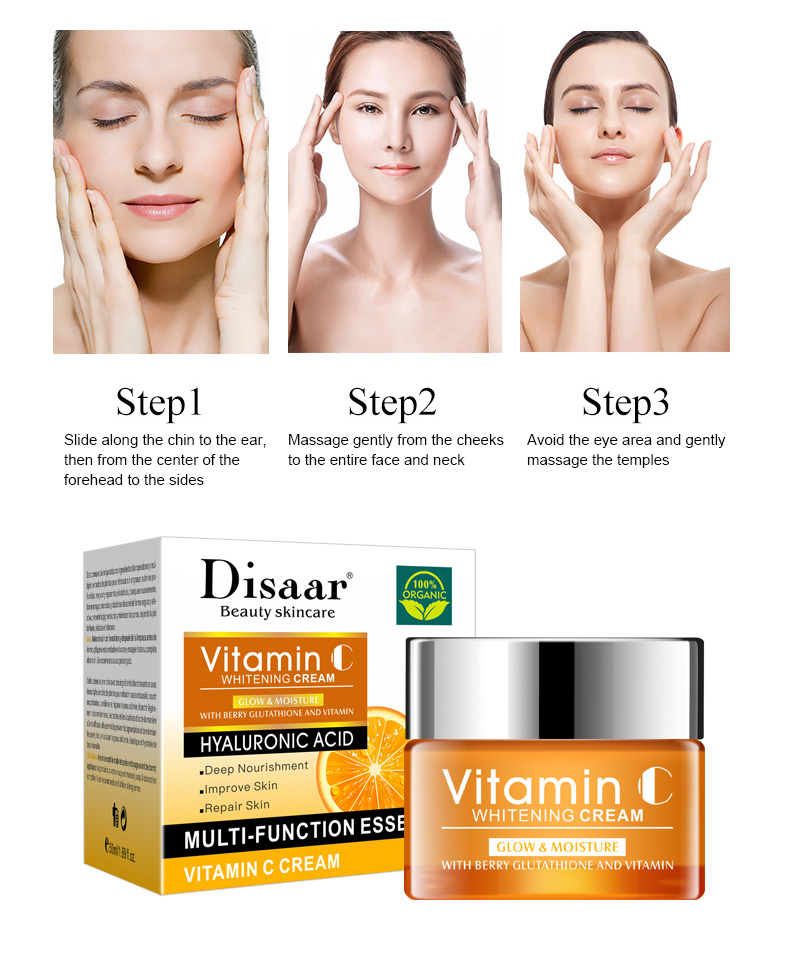 Disaar 50ml Moisturizing  Brightening  Skin Face Whitening Cream With Vitamin C