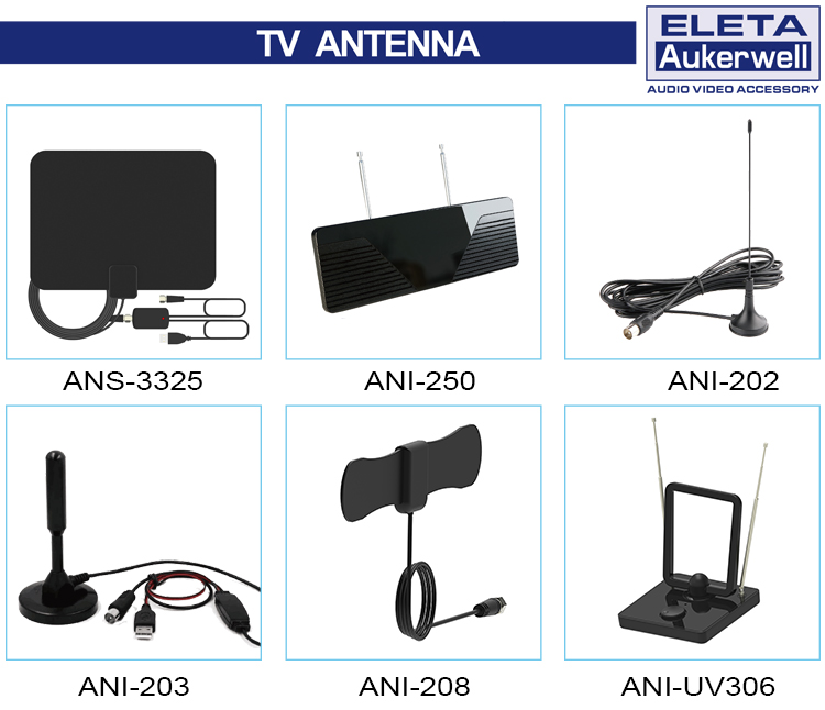 Venta caliente mini TV digital antena panel para Europa, América y Asia