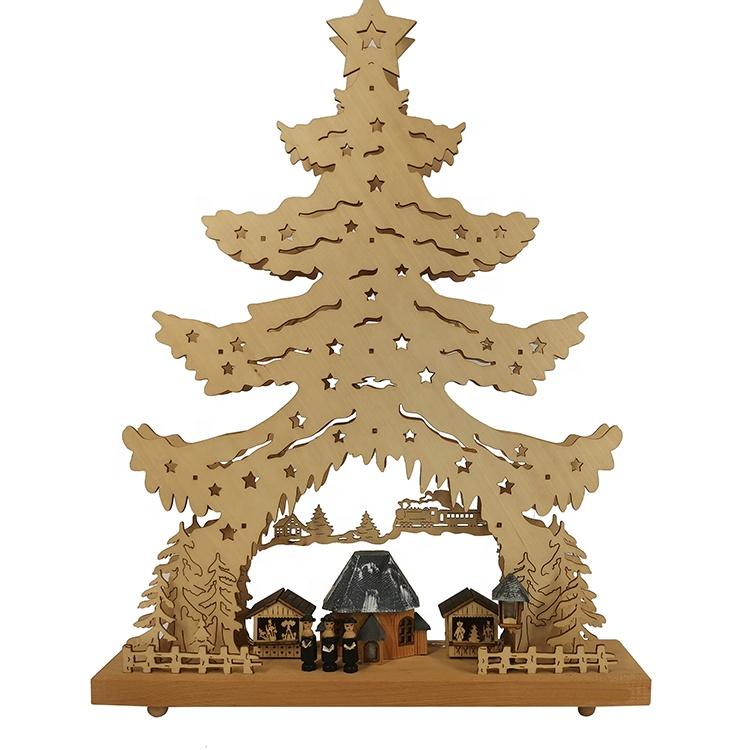 עץ LED תאורת חג המולד קישוט חג המולד כפר בית נר גשר אור