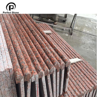 cheap price Natural red granite curved patio paving