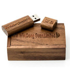 Factory Provide Free Sample Custom Logo Engraved Wooden USB 64 GB 2tb Flash Drive