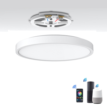 Tuya Smart WiFi Connection Home Slim Voice Control APP Control Led Ceiling Light with RGB Back Light