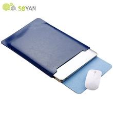 Soyan Microfiber PU leather Sleeve Protector tassen Voor <span class=keywords><strong>Macbook</strong></span> Air Pro Retina13 12 15 16 laptop Cover Voor Mac book 13.3 inch